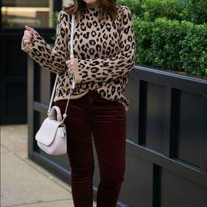 Cheetah leopard Print Sweater